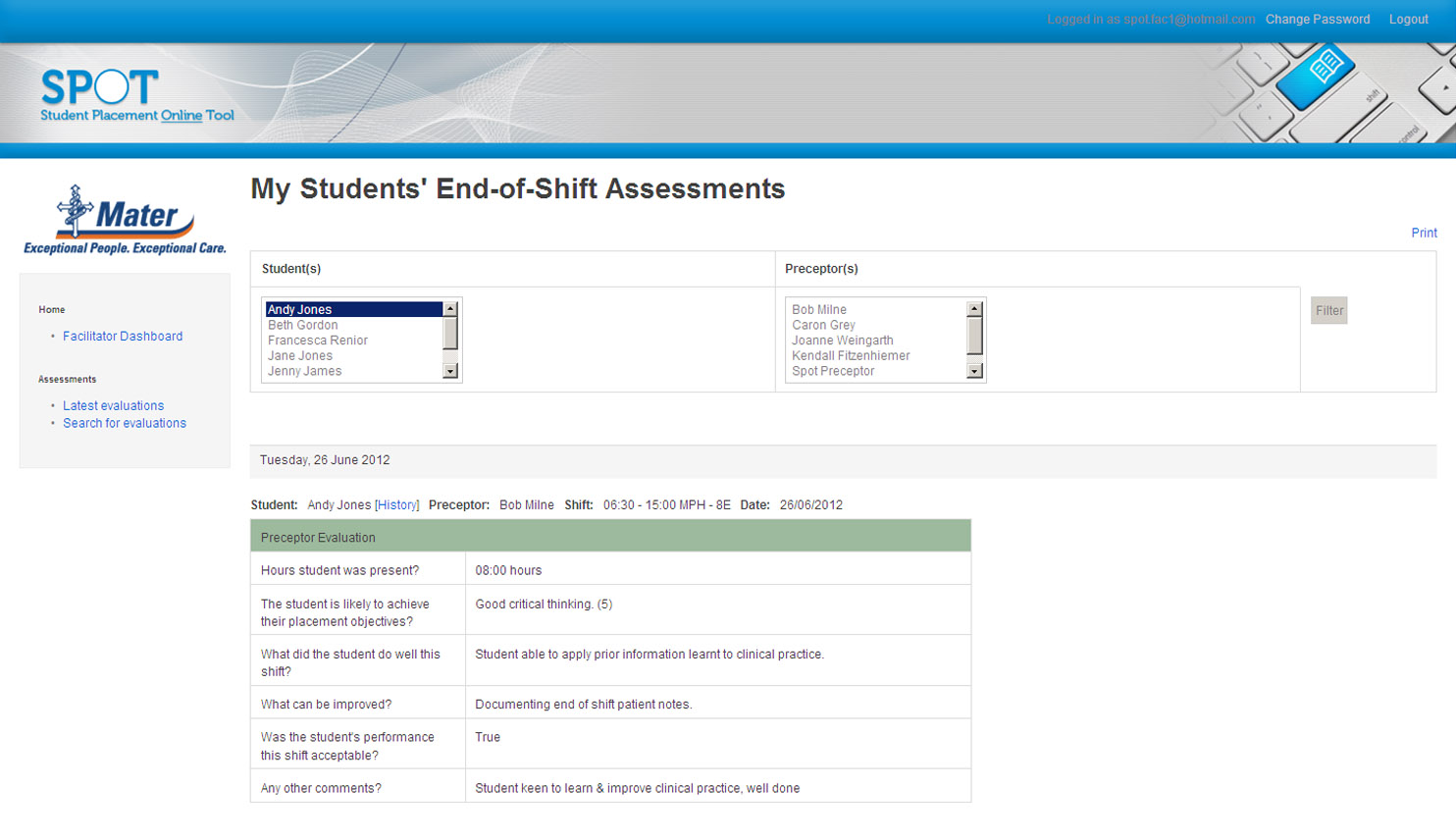 SPOT Student Placement Online Tool - For Education Providers